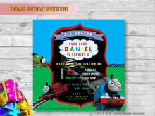 Thomas and Friends Children's Birthday Invitations