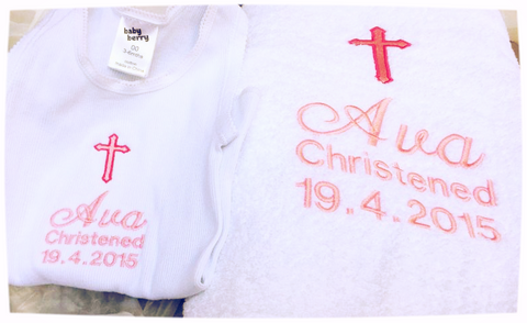 Embroidered Christening Items
