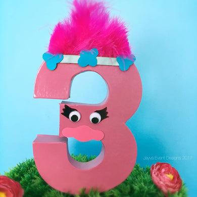 Trolls Theme Decorated Letter -Poppy