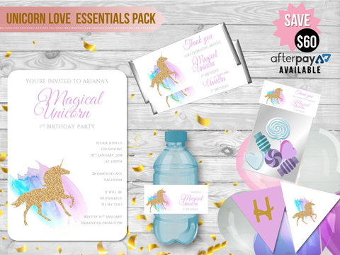 UNICORN LOVE Essentials Party Pack