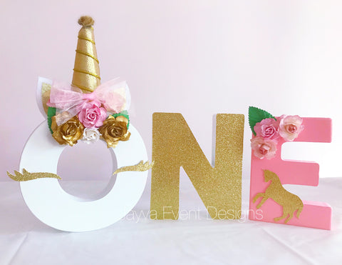 Mini Letters - Charming Unicorn