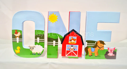 Farmyard Decorated Age Words