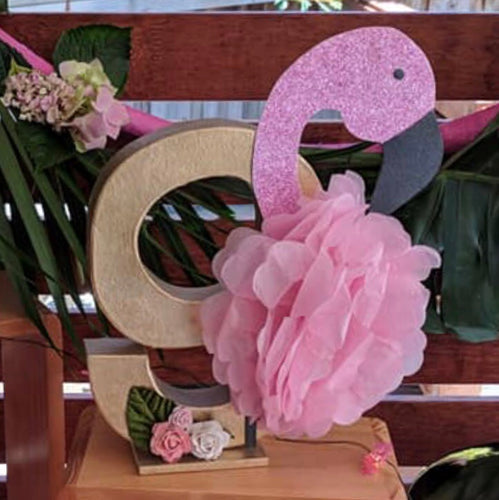 Flamingo Theme Decorated Letter