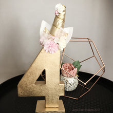 Unicorn Theme Decorated Letter - GOLD