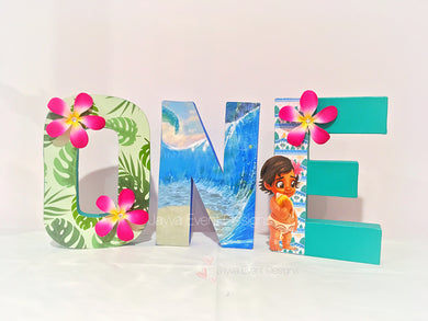 Moana Decorated Age Words
