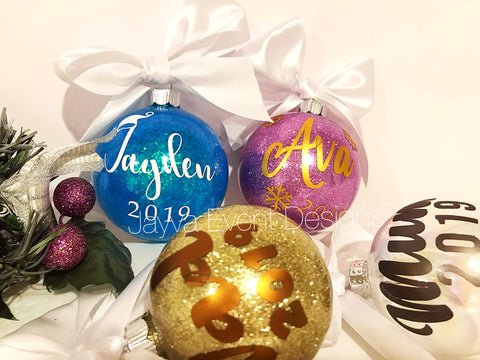 Personalised Christmas Bauble - small 8cm