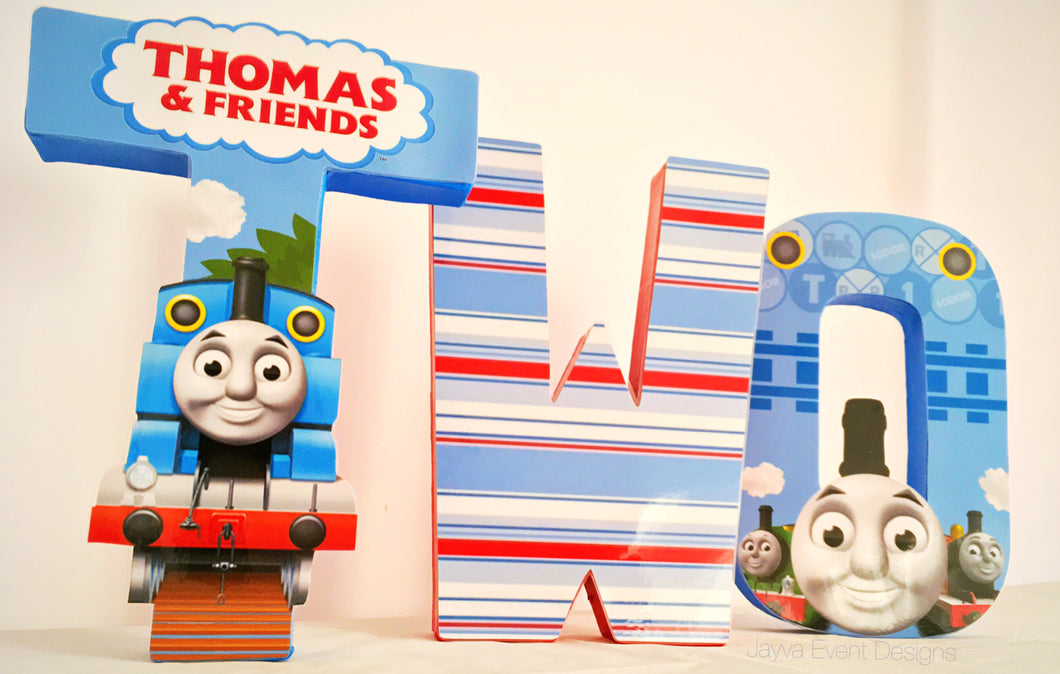 Thomas the Tank Engine Decorated Age Words