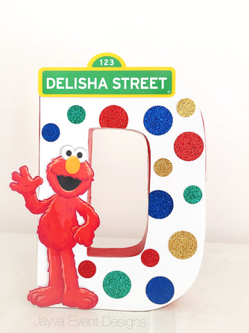 Elmo Decorated Letter