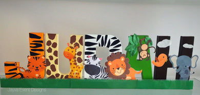 Jungle Theme Decorated Letters