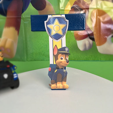 Paw Patrol Theme Decorated Letter - Chase