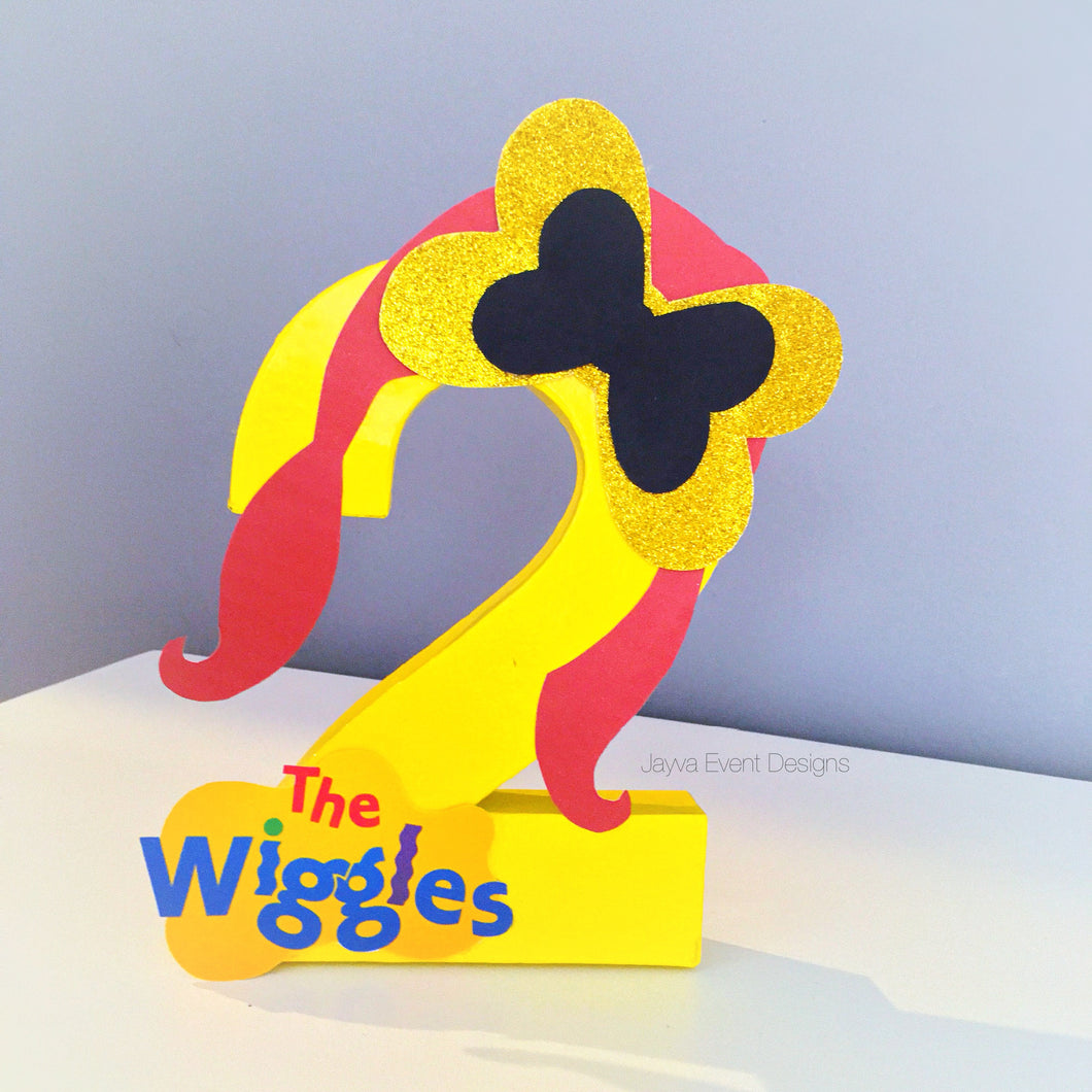 The Wiggles Emma Theme Decorated Letter