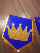 Royal Embellished Flag Banner