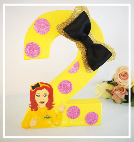 Emma Wiggle Decorated Letter Pink Polkadots