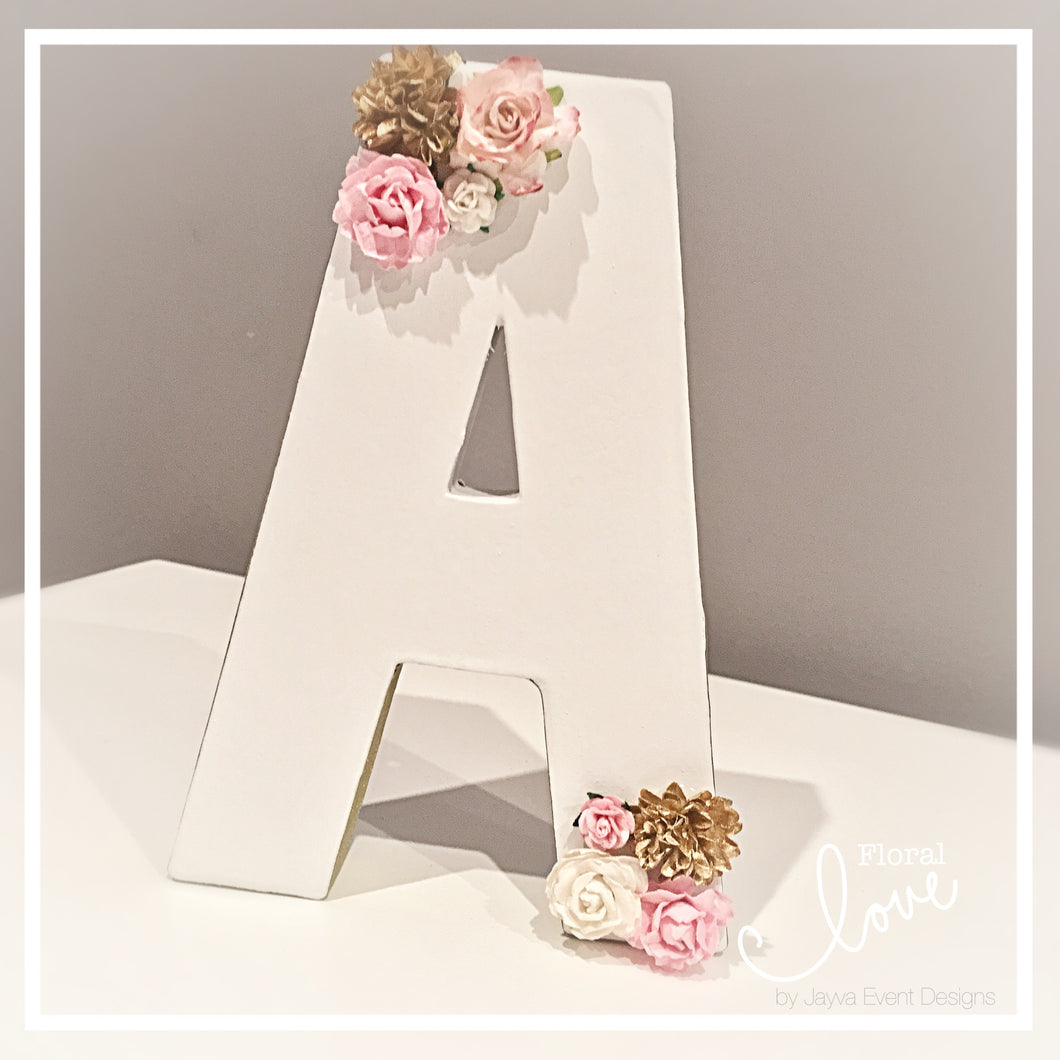 Floral Love Decorated Letter