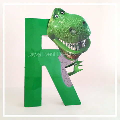 Rex Dinosaur - Toy Story Decorated Letter