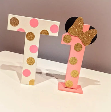Minnie Mouse Letter & Age bundle