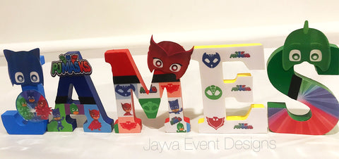 Mini Letters - PJ Masks