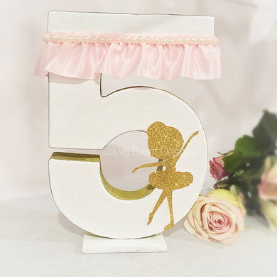 Pretty Ballerina Decorated Letter