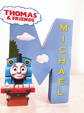 Thomas the Tank Engine Personalised Decorated Letter