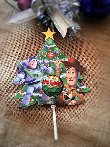 Christmas Lollypops tags - personalised