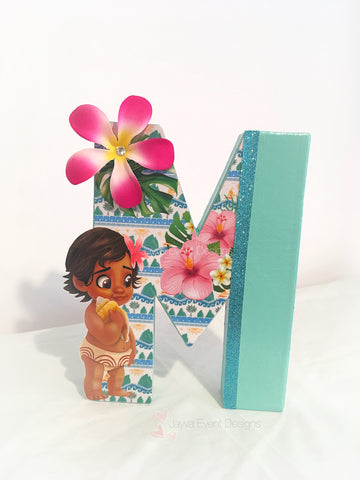 Moana Theme Decorated Letter