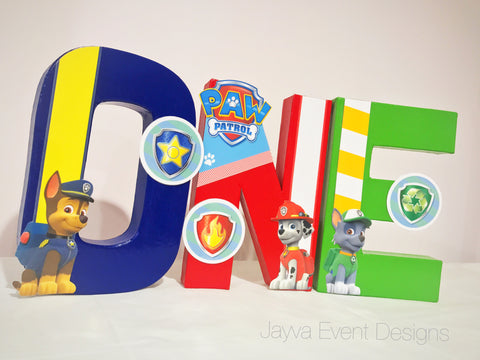 Paw Patrol Decorated Age Words