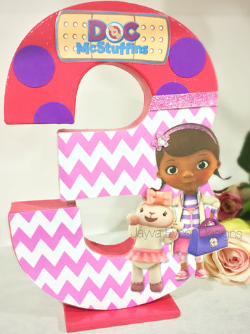 Doc Mcstuffins Theme Decorated Letter