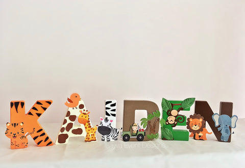 Mini Letters - Jungle Safari