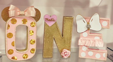 Chic Minnie Mouse Decorated Age Words