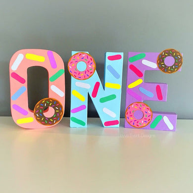 Donut Theme Decorated Age Words
