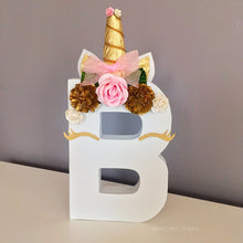 Unicorn Theme Decorated Letter - Charming
