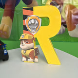 Paw Patrol Theme Decorated Letter - Rubble