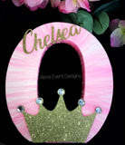Personalised Princess Theme Decorated Age Words