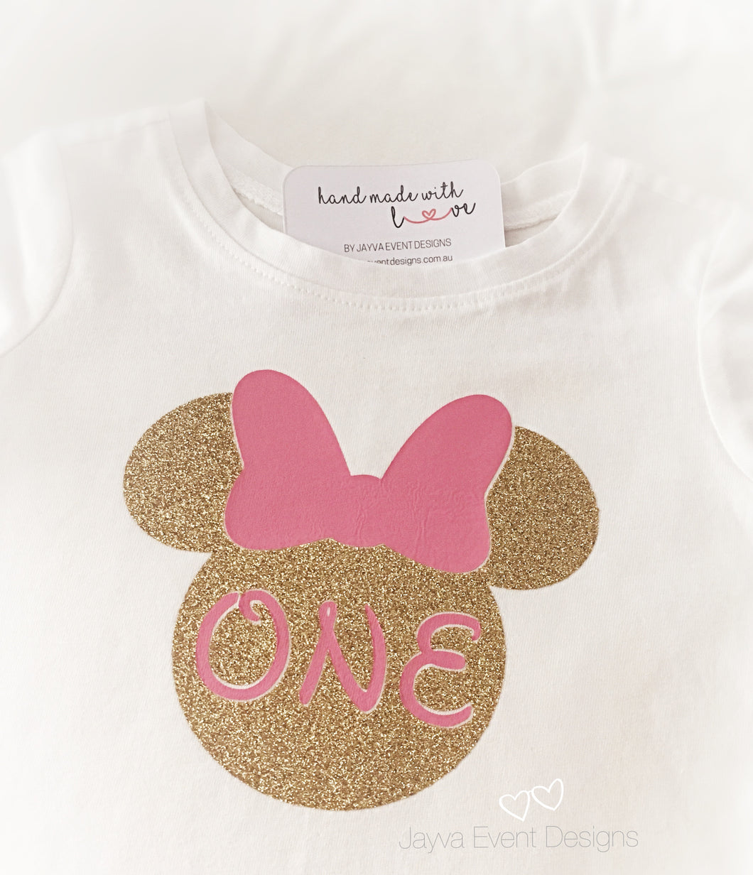 Minnie Mouse Personalised T-Shirt