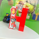 Paw Patrol Theme Decorated Letter - Marshall
