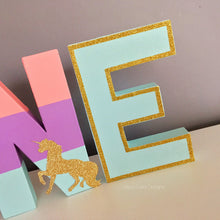 Rainbow Unicorn Theme Decorated Age Words