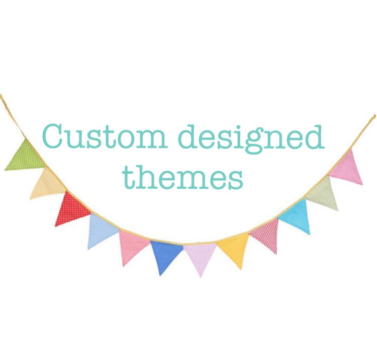 Custom Designed Theme Birthday Flag Banner
