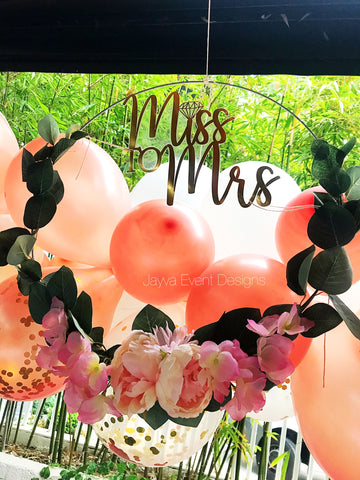 Miss to Mrs Floral Wreath