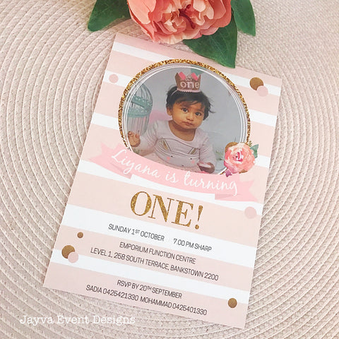 Chic Floral Children's Birthday Invitations