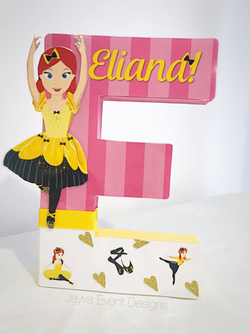 Emma Wiggle Ballerina Personalised Decorated Letter