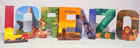 The Lion King Decorated Names