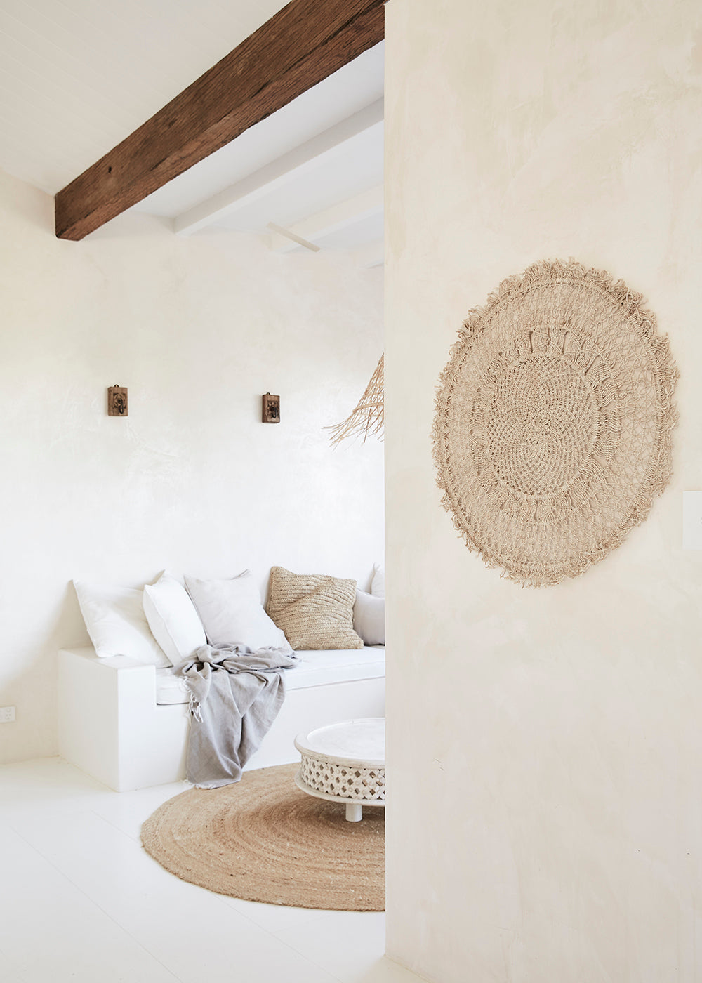 natural handmade wall hanging