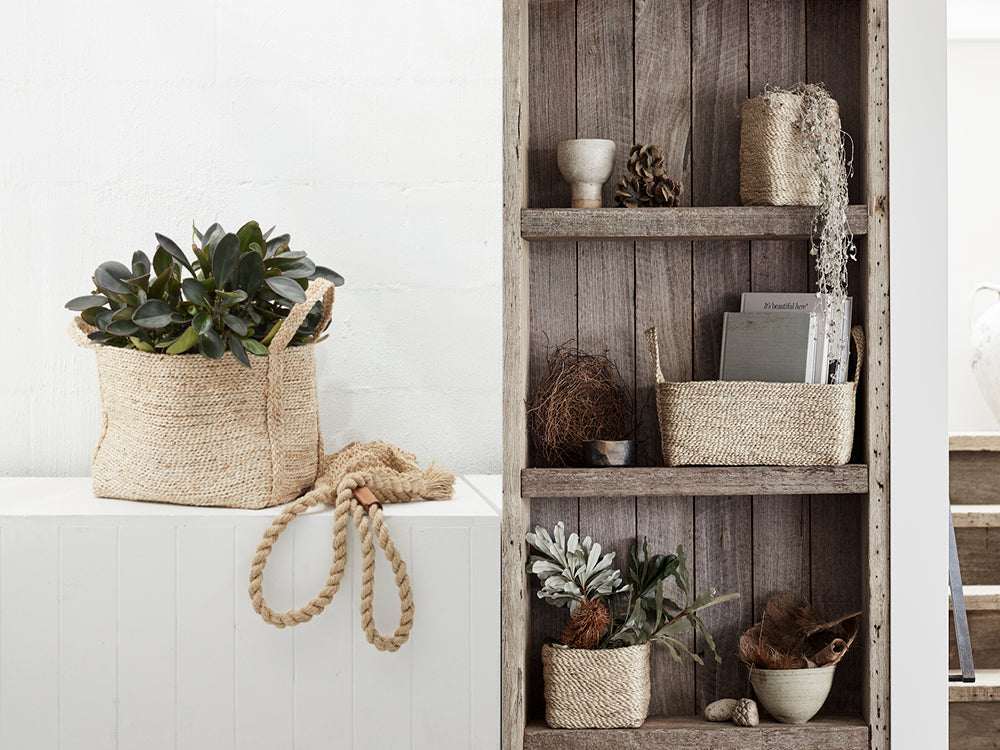 Woven baskets for your indoor plants