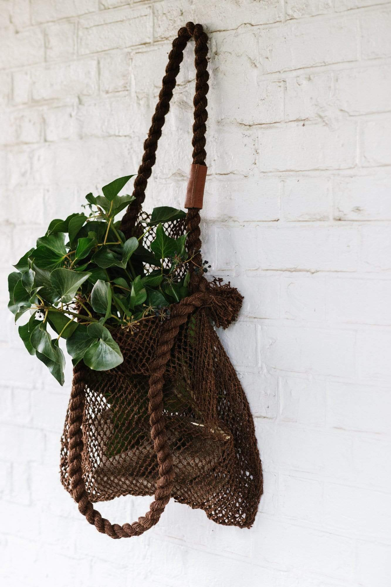 The Dharma Door Bags and Totes Jumbo Hemp String Bag - Acacia Jumbo Hemp String Bag - Acacia