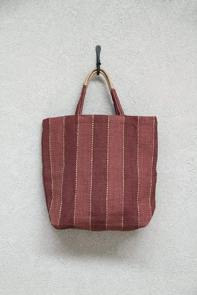 The Dharma Door Bags and Totes Jute Shopper - Tannin