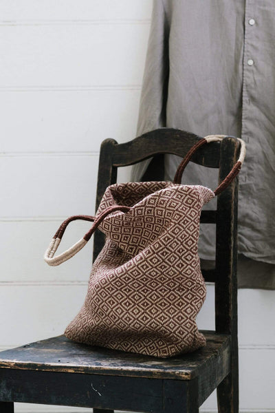 The Dharma Door Bags and Totes Jute Shopper - Tannin Diamond