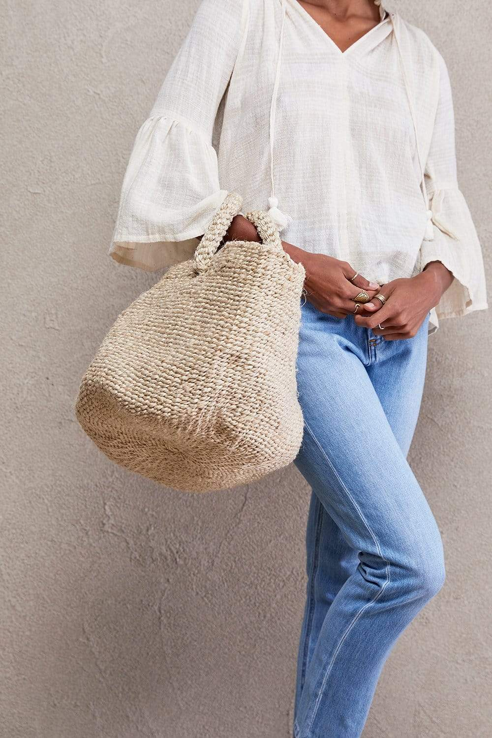 The Dharma Door Bags and Totes Seafarers Basket - Natural Seafarer Basket - Small