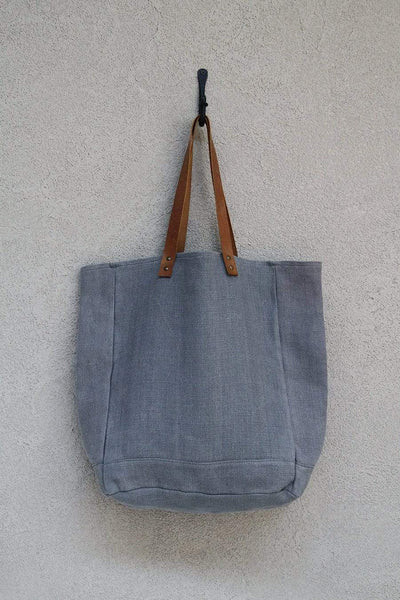 The Dharma Door Bags and Totes Tote w/ leather handles - Ash
