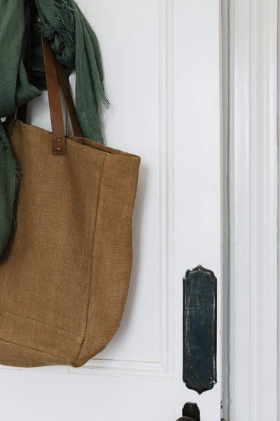 The Dharma Door Bags and Totes Tote w/ leather handles - Camel