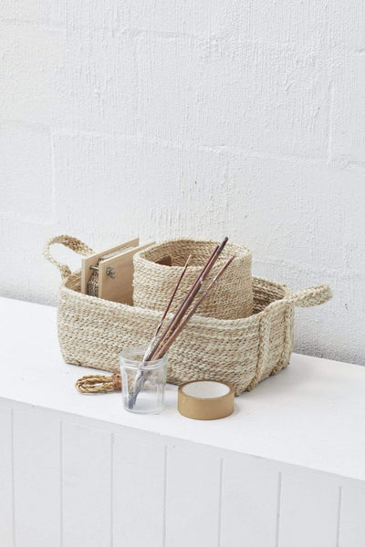 The Dharma Door Basket Small Jute Basket - Natural (3 sizes)